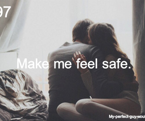 safe, love, and couple image