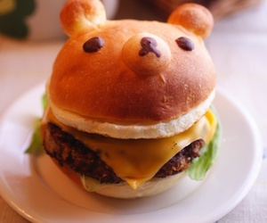 food, bear, and burger image