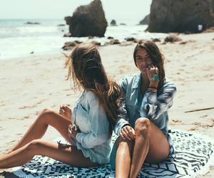 beach, ocean, and friends image