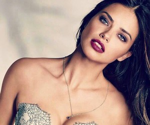 Adriana Lima, brunette, and beauty image