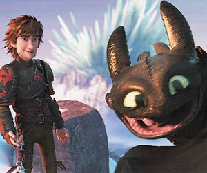 gif, toothless, and hiccup image