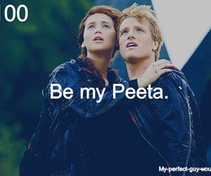 peeta, hunger games, and katniss image