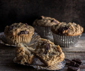 banana, earl grey, and muffins image