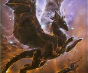 art, cosmos, and dragon image