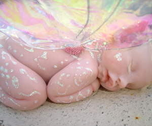 baby, fairy, and pink image