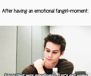 emotions, fangirl, and dylanobrien image