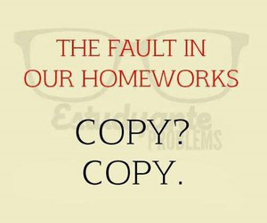 copy, funny, and homework image