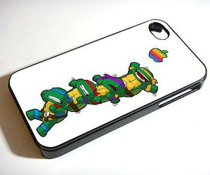 iphone, ninja turtles, and teenage mutant image