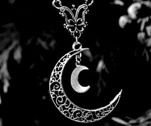 moon, necklace, and boho image