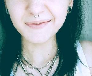 girl, Plugs, and piercing image