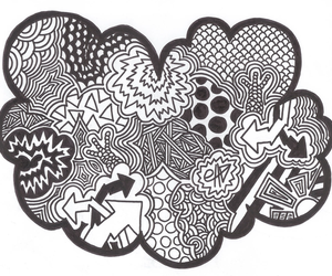 doodle, draw, and art image
