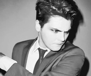 black and white, gerard way, and my chemical romance image
