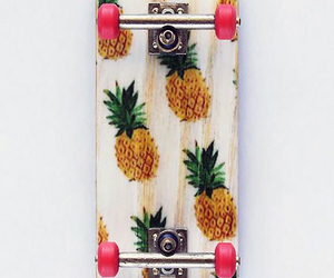 pineapple, skateboard, and skate image