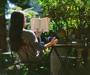 book, nature, and read image