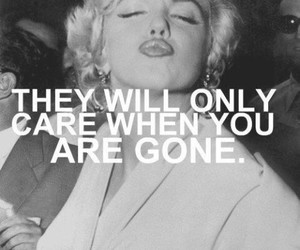 quote, Marilyn Monroe, and care image