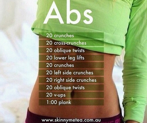 abs, workout, and fitness image