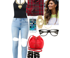 boots, glasses, and plaid image