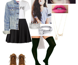 boots, Polyvore, and thigh highs image