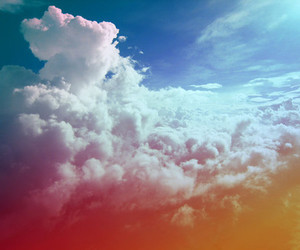 clouds, sky, and colors image