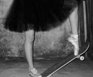 skate, girl, and dance image