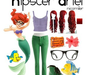 ariel, disney, and hipster image