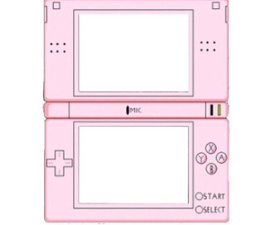 ds, pink, and template image