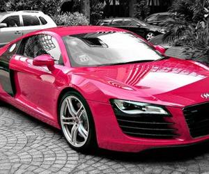 car, pink, and audi image