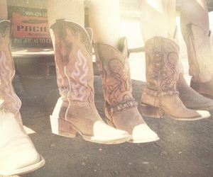 boots, Cowgirl, and cowgirl boots image