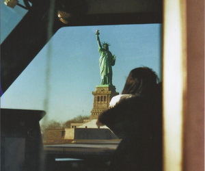 photography, ellis island, and statue of liberty image