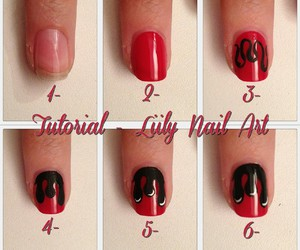<3, diy, and Red & Black image