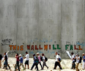 free palestine and apartheid wall image