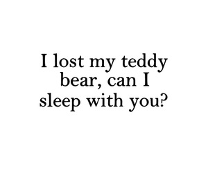 sleep, love, and teddy bear image