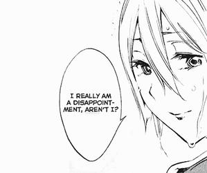 b&w, manga, and manga cap image