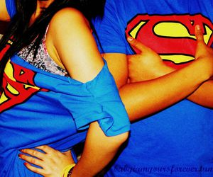 superman, couple, and boy image