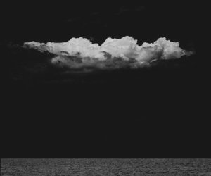 clouds, black, and sea image