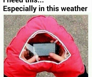 phone, winter, and weather image