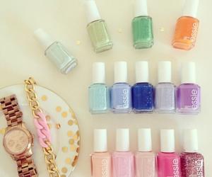 girly, nail polish, and watch image
