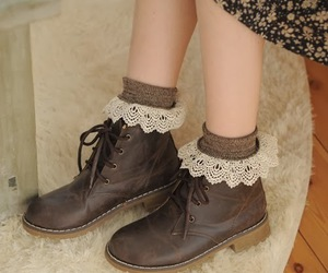 shoes, lace, and vintage image