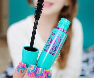 mascara, tumblr, and nails image