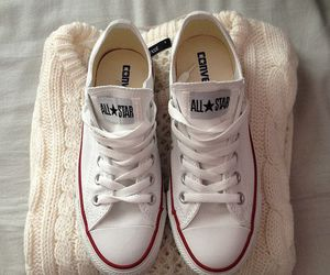 converse, white, and sweater image