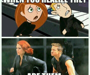 kim possible, Avengers, and funny image