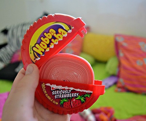 hubba bubba, gum, and food image