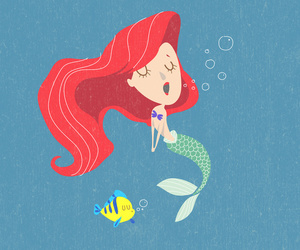 ariel, disney, and little image