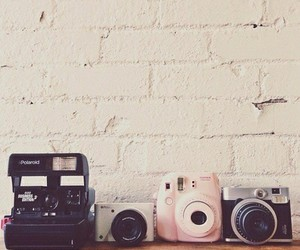 camera, vintage, and polaroid image