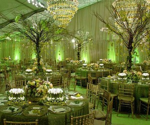 centerpiece, wedding, and green image