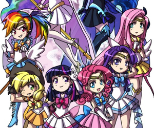 my little pony, anime, and sailor moon image