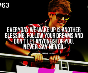 quote, justin bieber, and never say never image