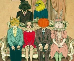 girl, pumpkin, and pumpkin girl illustration image