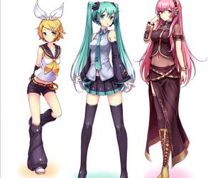 vocaloid, hatsune miku, and megurine luka image