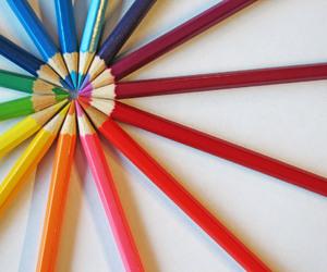 art, pencil, and rainbow image